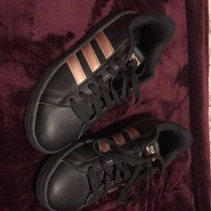 Shoes - Black and rose gold adidas